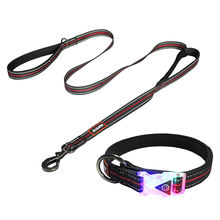Pet supply wholesale fashion neoprene padded nylon dog collar and leash set