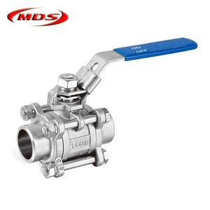 3 pc stainless steel ss316 ball valve dn50 made in China