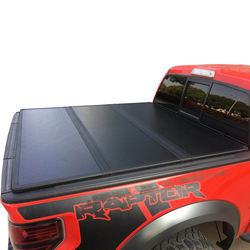 Aluminum Black Pickup Bed Cover Tri-Fold Truck Bed Tonneau Cover