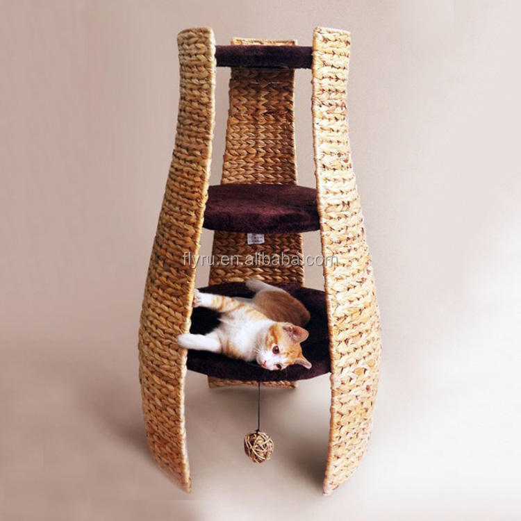 Fashion Designer wholesale Excellent Material Nature Paradise banana leaf cat tree for cat rest and play