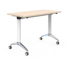 China Factory Modern MFC Wood Folding Training Table With Wheels