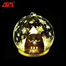 Personalized hand blown glass ball ornaments christmas decoration supplies