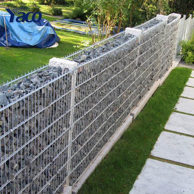 Easy installation welded gabion box retaining wall metal gabions prices
