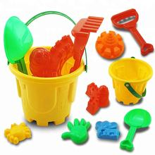Cartoon Buckets Children Plastic DIY Sand Toys Play Set