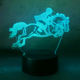 Funny horse riding 3D USB desk decor table lamp bar party atmosphere effect night light 7 color change illusion child gift lamp