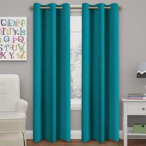 Wholesale Fashion Decorative Washable Home Hotel Blackout Window Curtain Turquoise Curtain