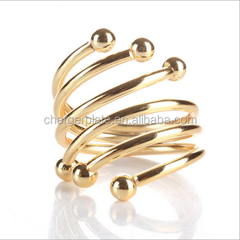 Cheap Wholesale Metal Gold Silver Napkin Rings for Wedding Decoration