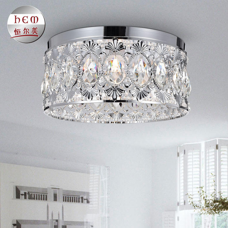 new design round modern kitchen restaurant led crystal ceiling light