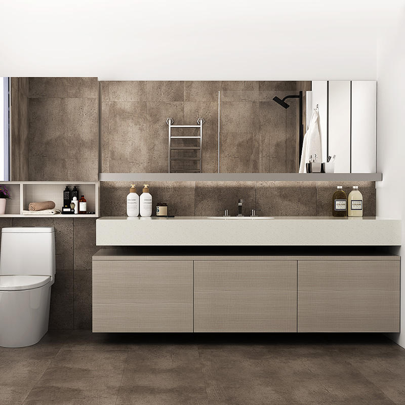 OPPEIN wholesale modern bathroom cabinet by Italian designer for bedrooms or hotel project bathroom vanity