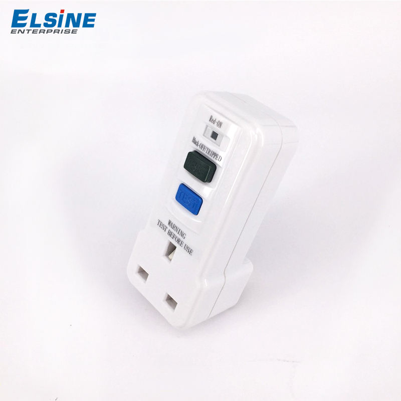 British 13A 30mA RCD Portable Adaptor Socket outlet plug Portable Residual current devices GFCI