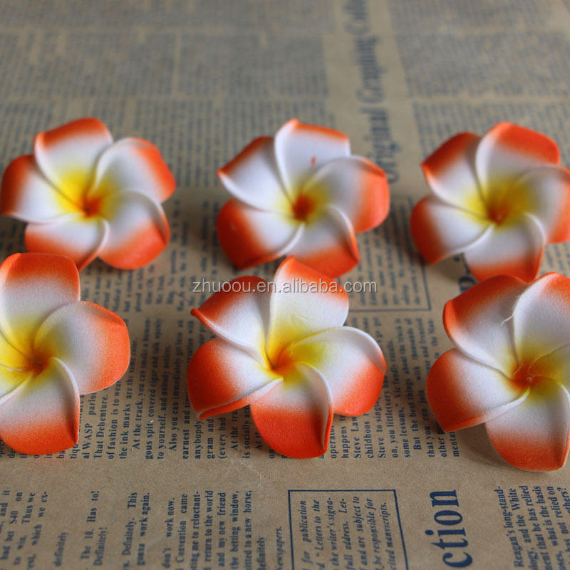 ZERO Hawaii Plumeria Foam Flower Artificial Frangipani Beach Flower