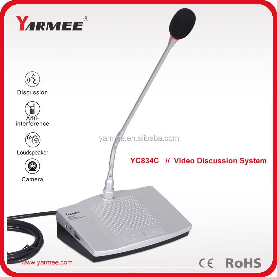 Vídeo de seguimiento del sistema de conferencia sistema de conferencia de Audio de guangzhou fábrica micrófono YC834--YARMEE