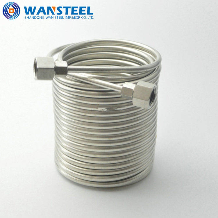 AISI Standard Stainless Steel Coiled Metal Tubing