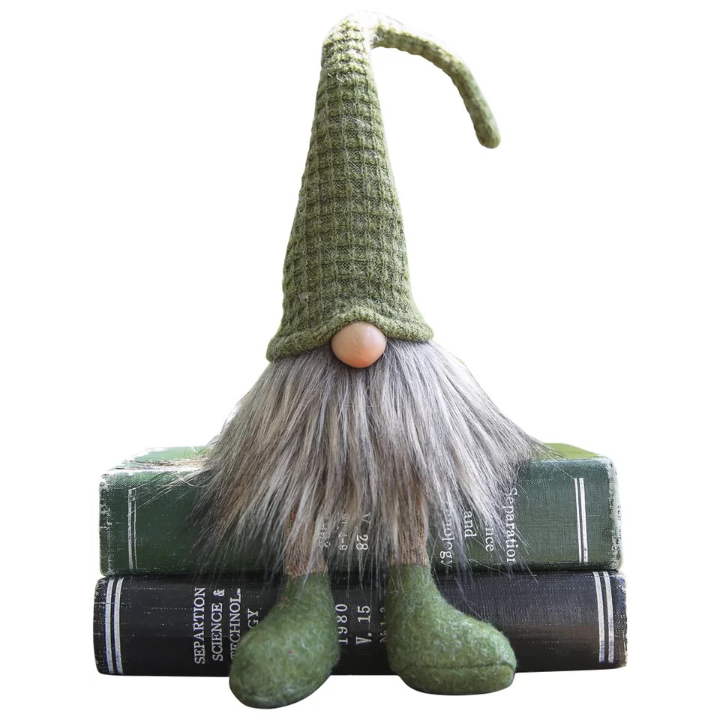 Custom Stuffed Gnome Table Decor Car Ornament Green Elf Dwarf Tomte Christmas Home Decoration Fabric Gnome with Natural Color