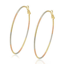 97533 xuping gold plated circle earrings,cheap china copper earrings