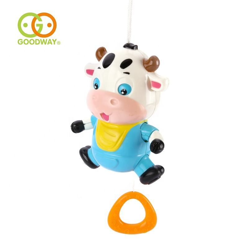 best gift cute cow rattle bed hanging bell pull string toys with pure sound