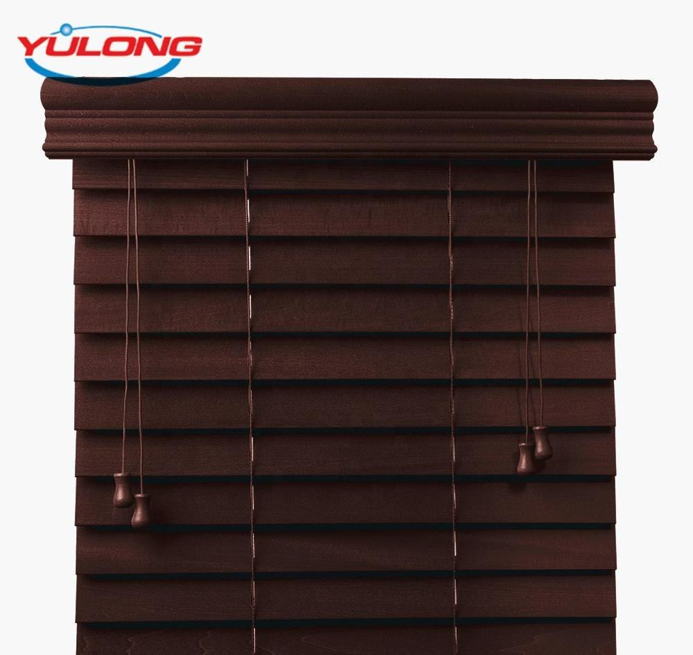Low Price Wooden Blinds Readymade Curtain