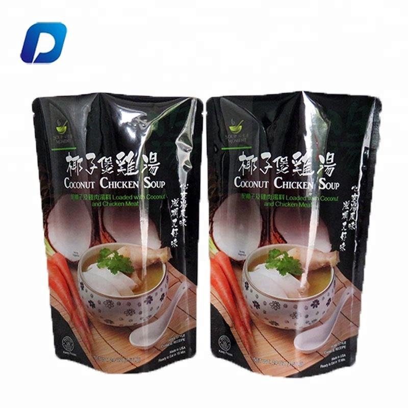 Customized printed doypack stand up aluminum foil frozen food packaging pouch bags