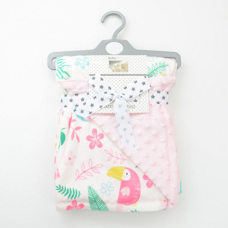 Cute 새 design 70*120 cm soft cotton baby 담요 <span class=keywords><strong>minky</strong></span> <span class=keywords><strong>점</strong></span>