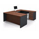 U shaped MDF melamine board executive office desk