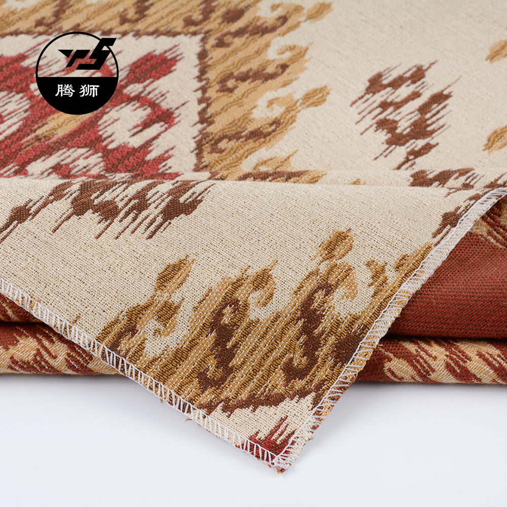 High Quality Vintage Textile Fabric Linen And Polyester Cloth For Making Sofa