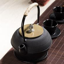 Unique Artistic Cast Iron Japanese Antique Teapot with Stainless Steel Infuser Set Enamel Tea Kettle Stovetop