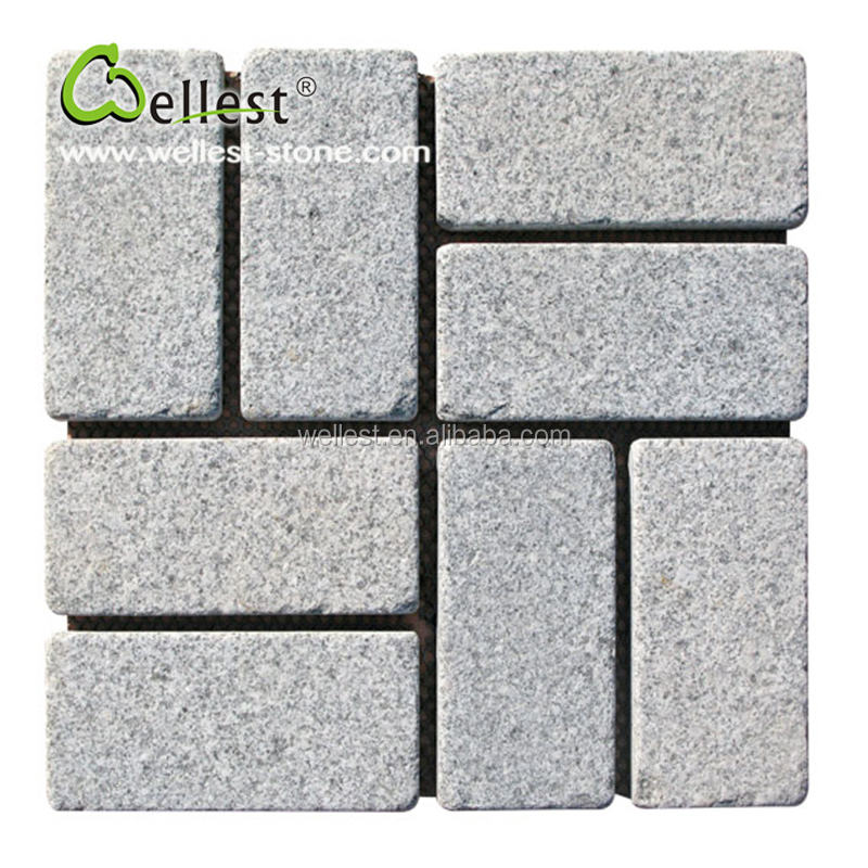 Wholesale Factory Flamed Surface G603 Grey Granite Paving stone