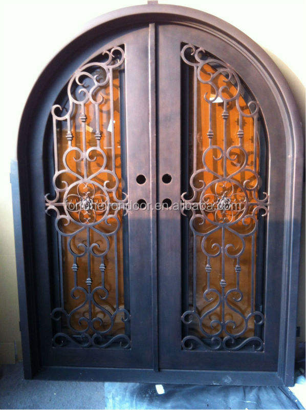 Luxury church door Stainless iron grill door designs steel entry doors Manufacturer