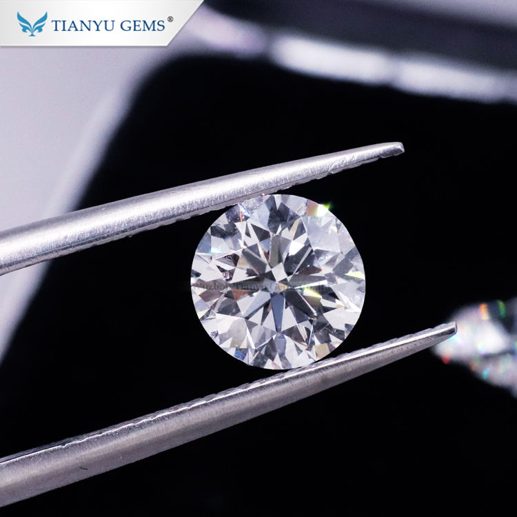 Tianyu Gems wholesale 0.5ct 1ct VS SI I HPHT CVD lab grown diamond for jewelry making