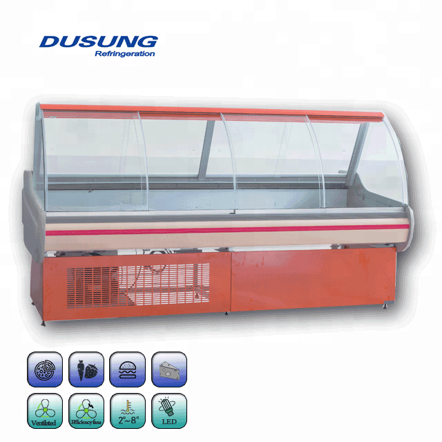 Commercial Pizza Refrigerated Counter Display Freezer