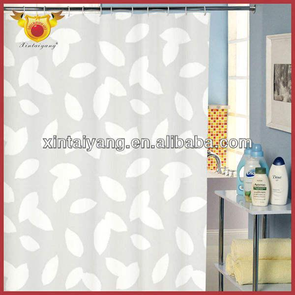 Artículos para el hogar cortinas, elegante estilo europeo PEVA cortina de ducha con la ventana de cortinas