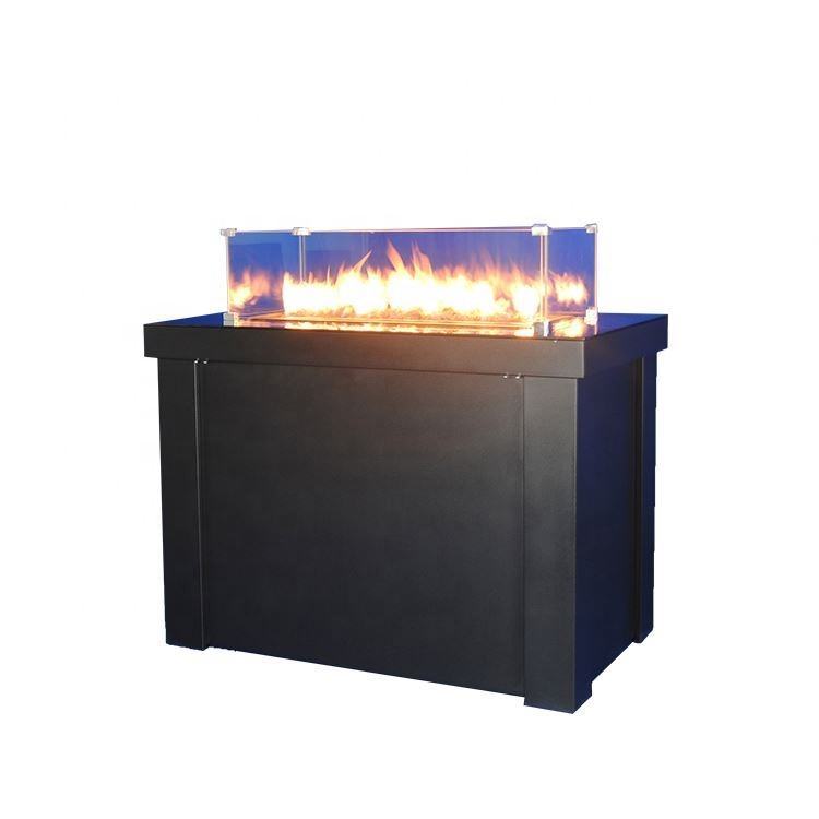 Backyard Metal Iron Gas Outdoor Fire Pit Black