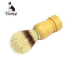 High quality man black shaving beard brush with wooden handle