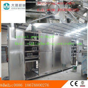 Industrial gas oven/dryer for fish food pellet