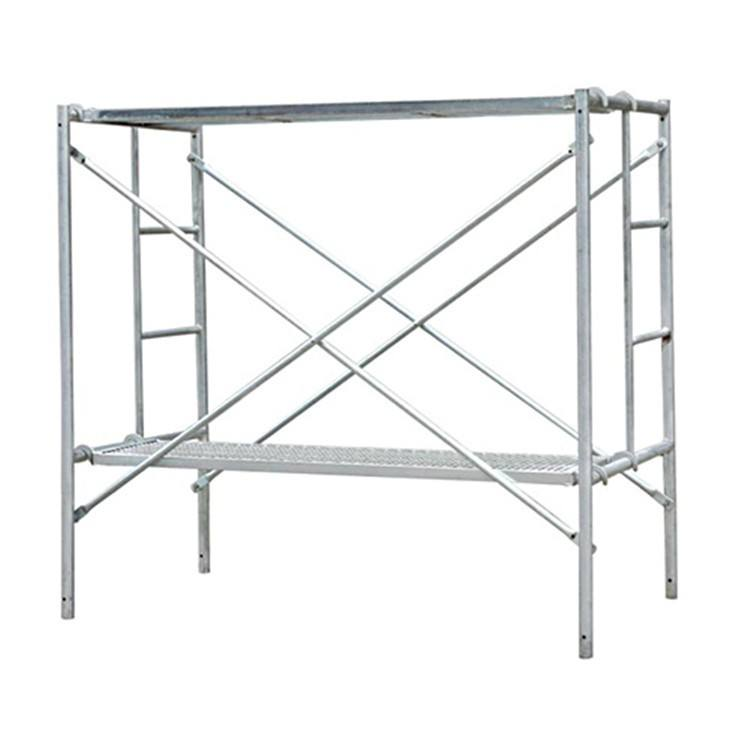 Pre Galvanized Q235 Steel Mason Mobile Ladder H Movable Andamios Metalicos Frame Scaffolding