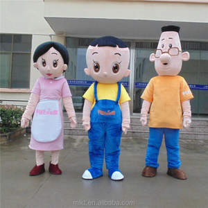 Factory profession custom people doll family mascot costume boy doll on sales