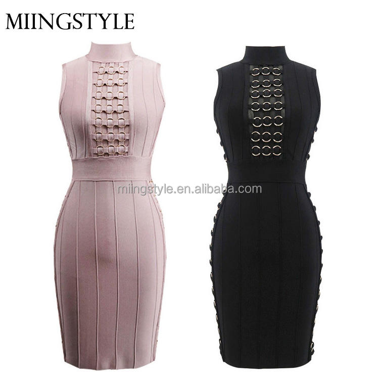 2017 vrouw bodycon cocktail formele guangzhou stud sexy bandage guangzhou jurken voor dames groothandel