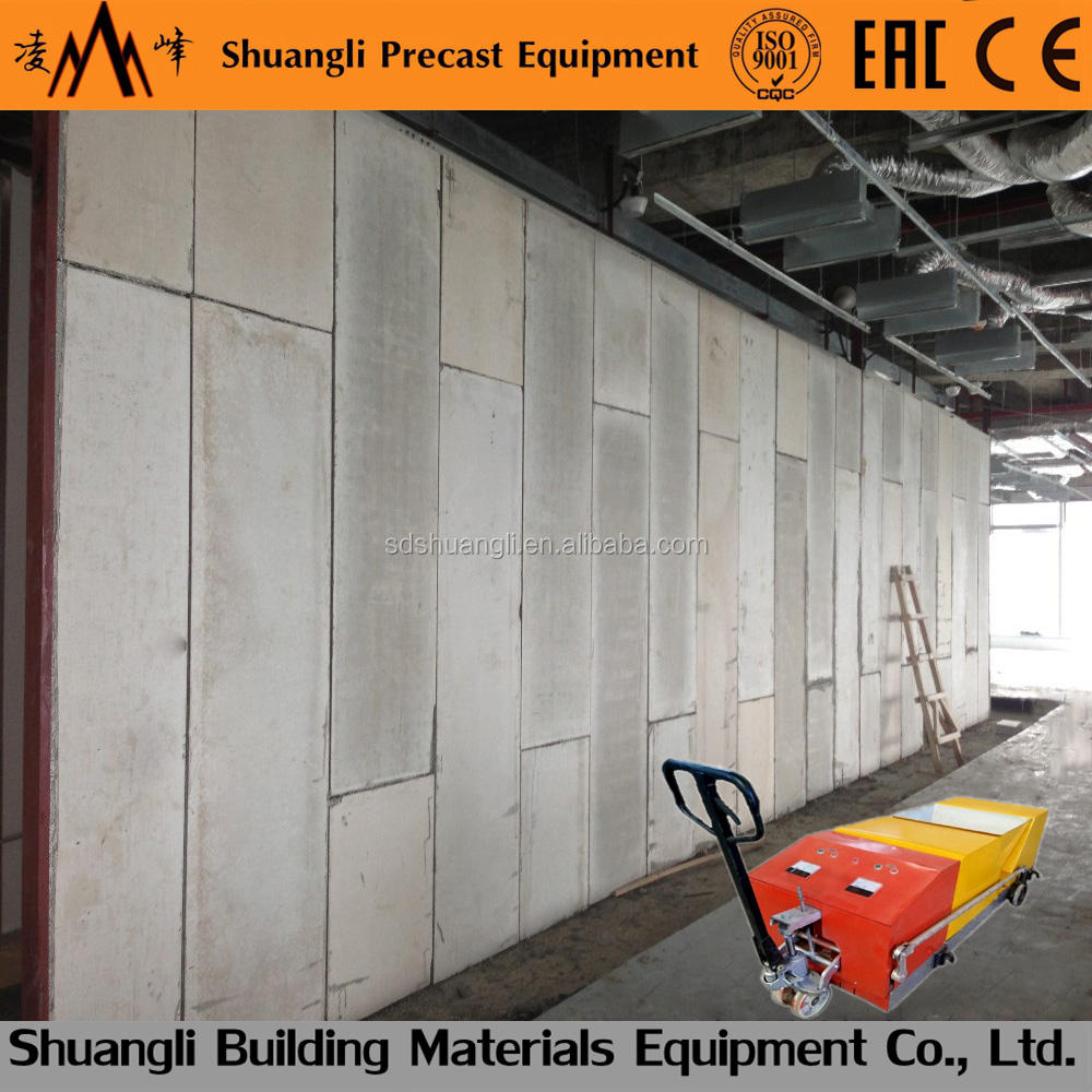 foam and concrete lightweight wall panel fly ash block machine