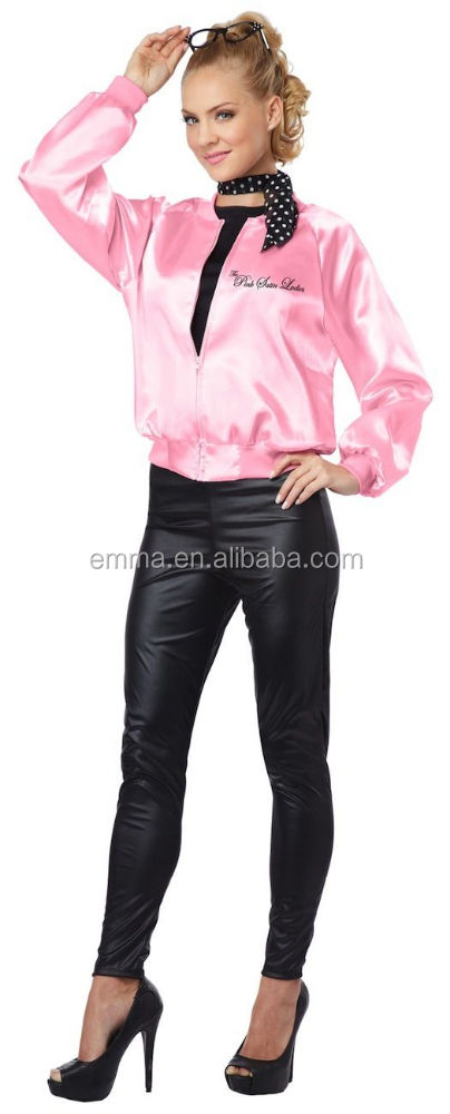 Adulte rose satin dames veste sous licence officielle graisse fantaisie robe costume de fête d'halloween BWG8640