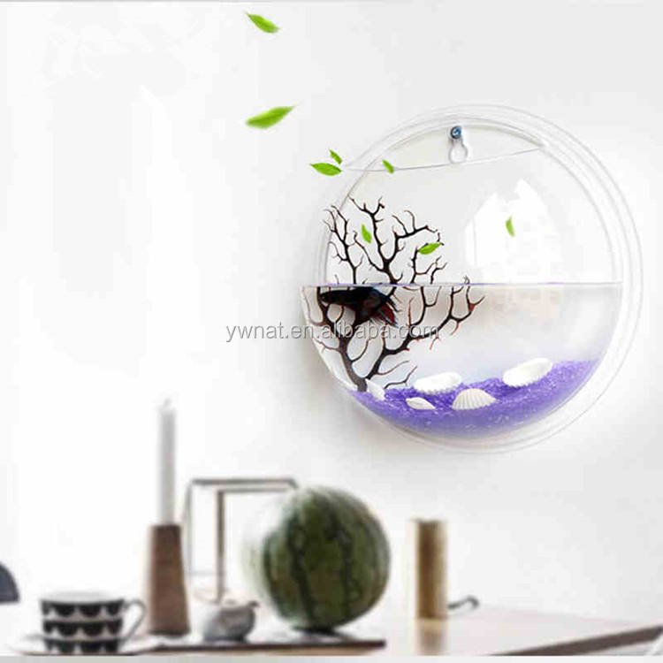 Wall Hanging Mount Bubble Aquarium Bowl Fish Tank Aquarium Home Decoration
