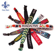 Well-positioned suppliers produce fabric woven wrist bands for souveniers