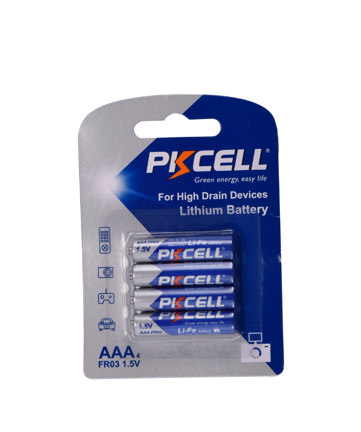 Non-rechargeable 1.5v FR10445 FR03 1200mAh aaa lithium battery