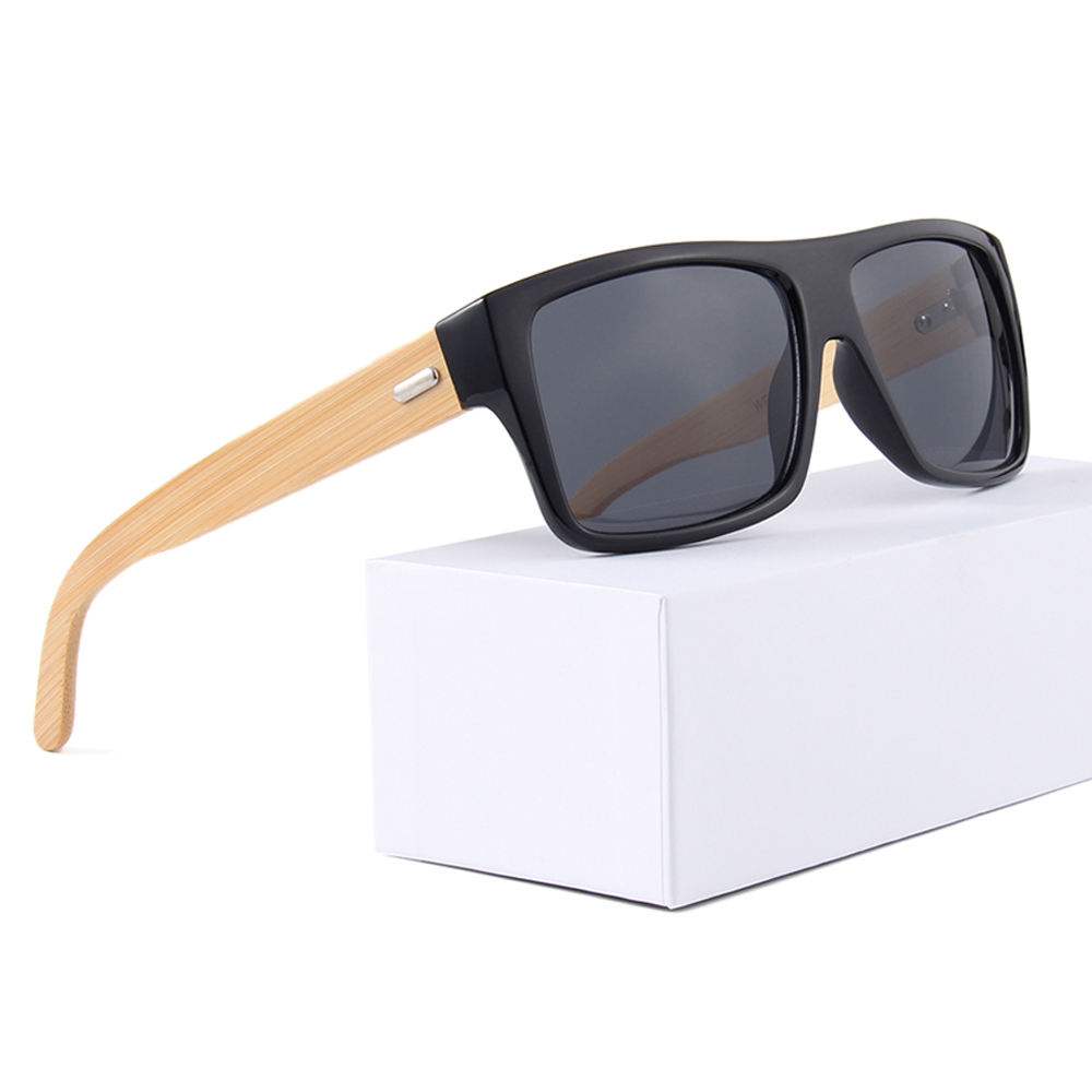 2020 OEM recycled custom brand men handmade wood bamboo sunglasses