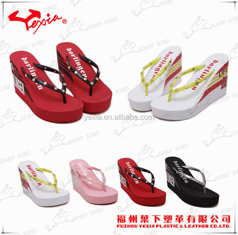 Lady platform flip flop wholesale sandals