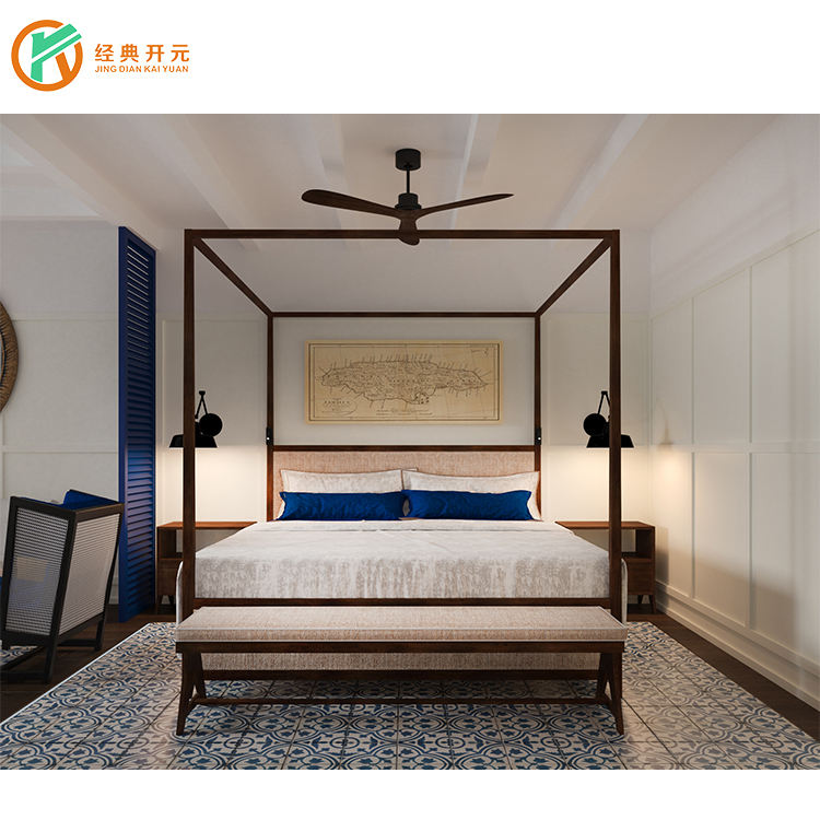 IDM-BD002 High Grade 5 Star Hotel Resort/ Villa Manufacturer Hotel Room Furniture Set