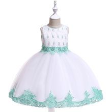 Cheap Wholesale Manufacturer Beautiful Cotton Festive New Arrival Children Girls Kids Dress Boutique  L5119