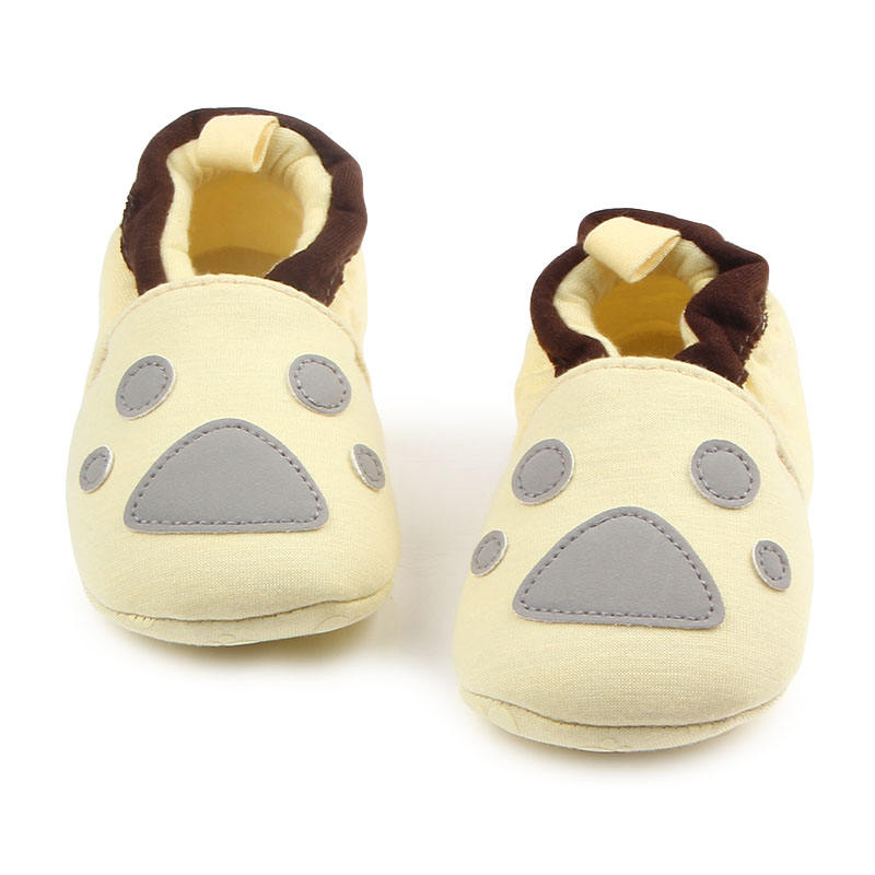 Cute footprint design soft cotton newborn infant baby shoes booties