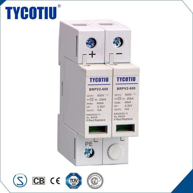 TYCOTIU Electrónica 600 V 1000 V de Puesta A Tierra Y Protector de Luz PV Sobretensión Dispositivo de Protección Térmica