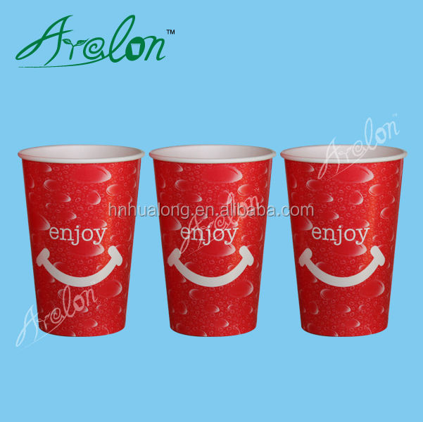 300ml 400ml 500ml pla coffee paper cup