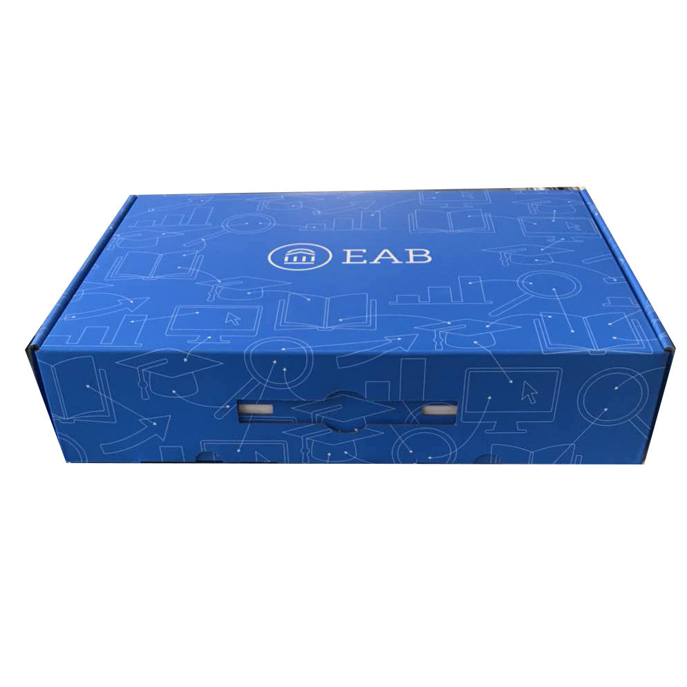 Color printed corrugated paper packing box for backpack